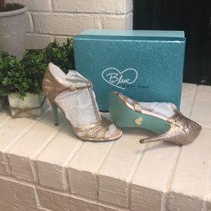 Betsy Johnson Blue Heels